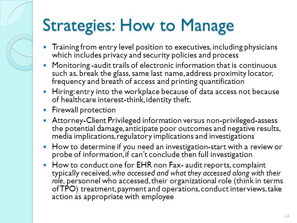 Strategies: How to Manage