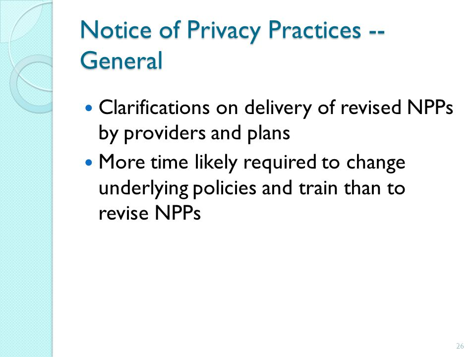Notice of Privacy Practices -- General