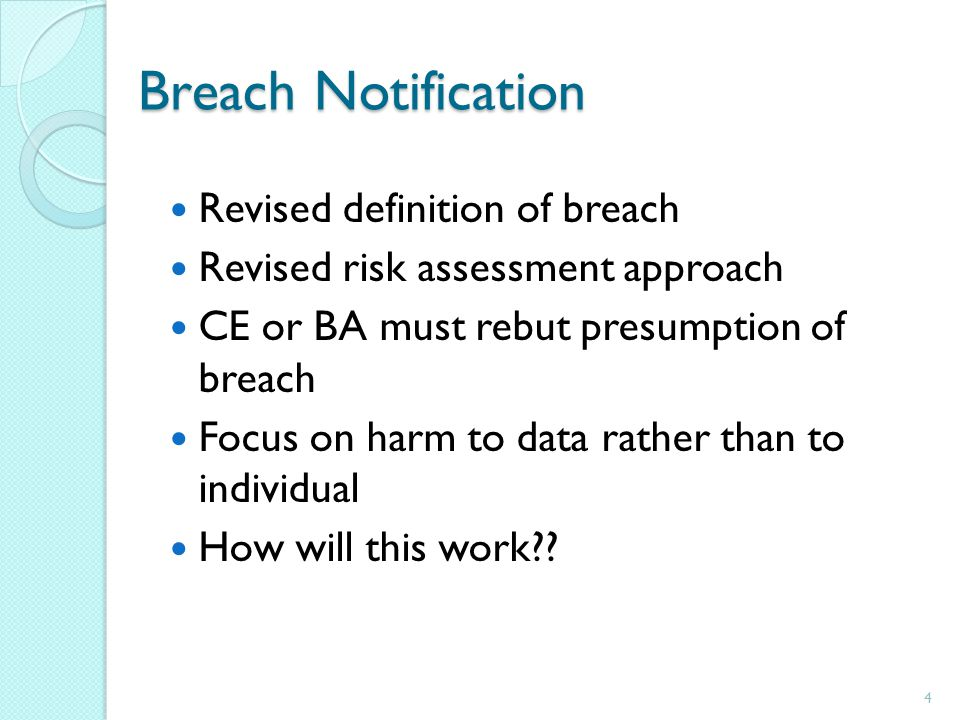 4 breach notification