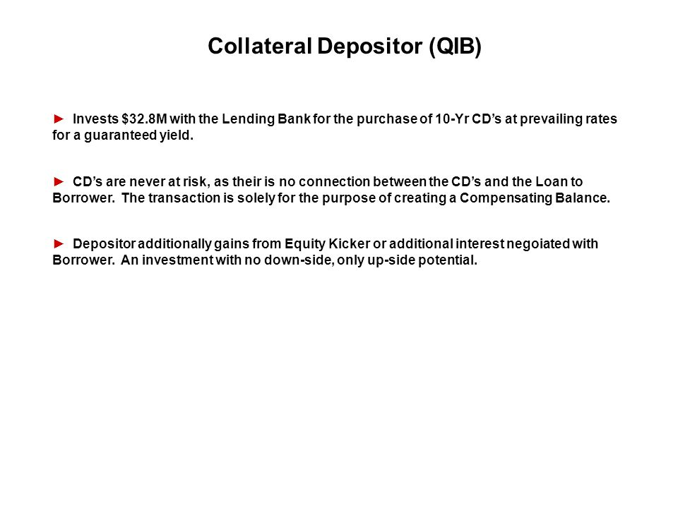 Collateral Depositor (QIB)