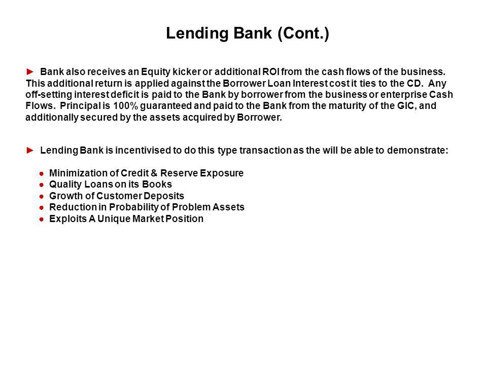 Lending Bank (Cont.)