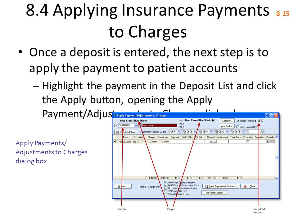 8.4 Applying Insurance Payments to Charges