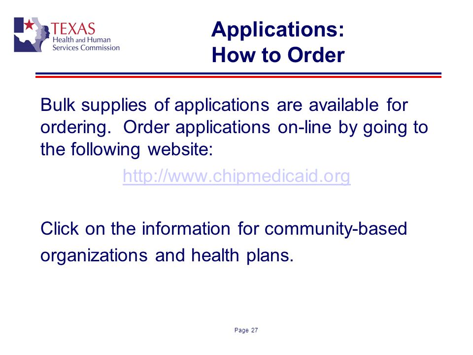 Applications: How to Order