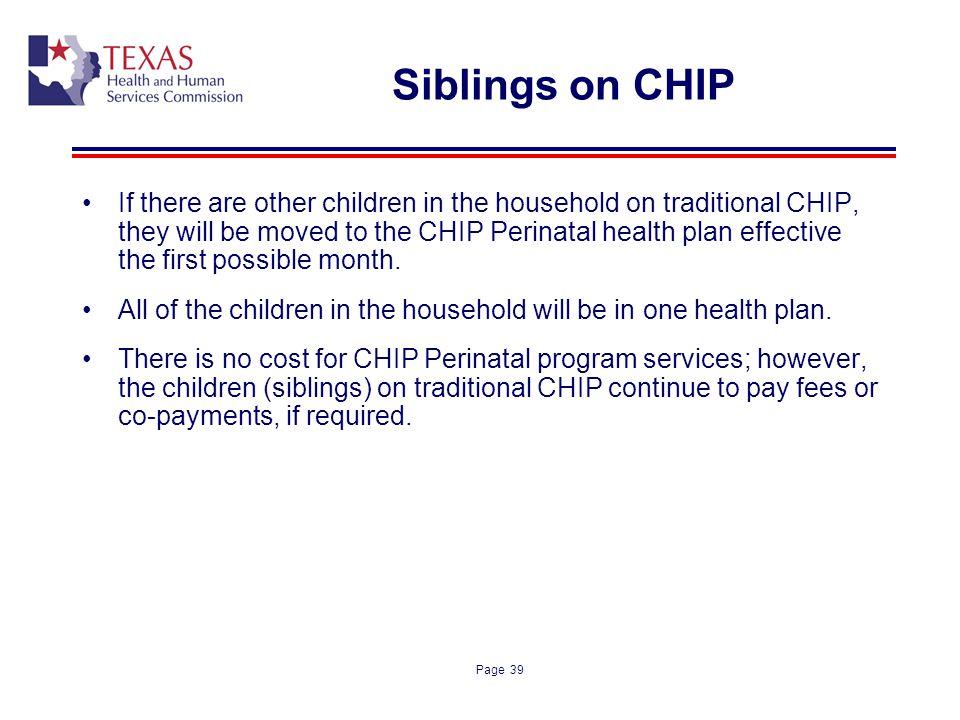 Siblings on CHIP
