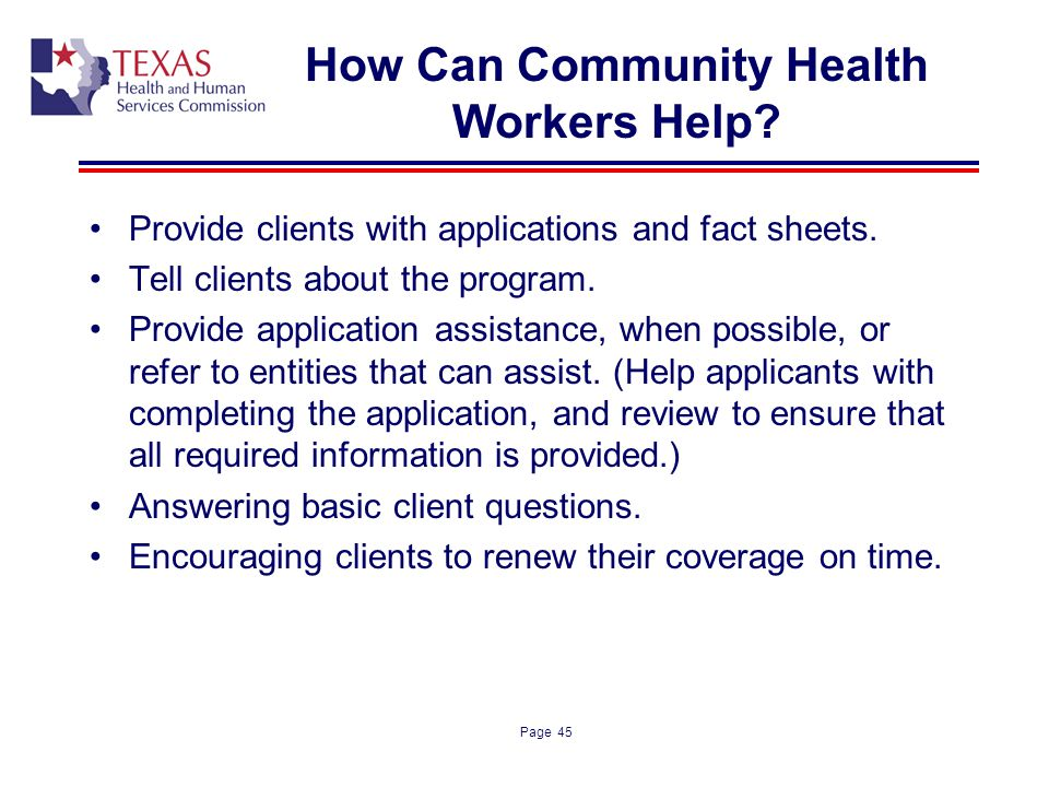 How Can Community Health Workers Help
