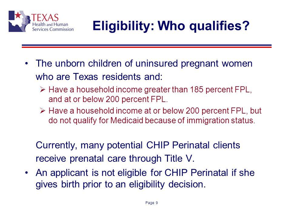 Eligibility: Who qualifies