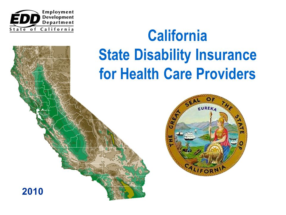 California State Disability Insurance for Health Care Providers