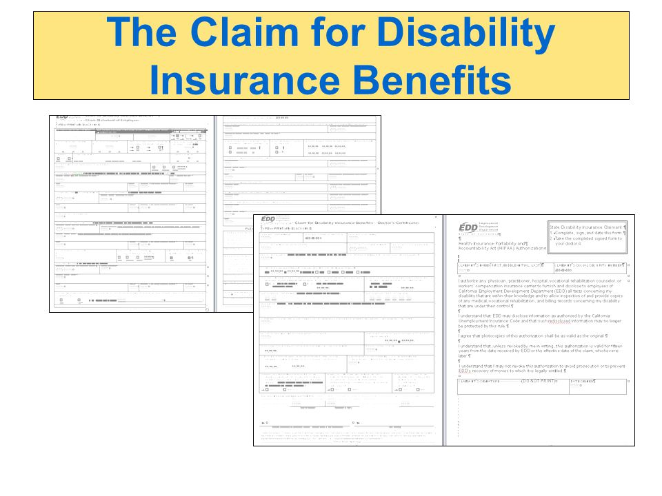 The Claim for Disability Insurance Benefits