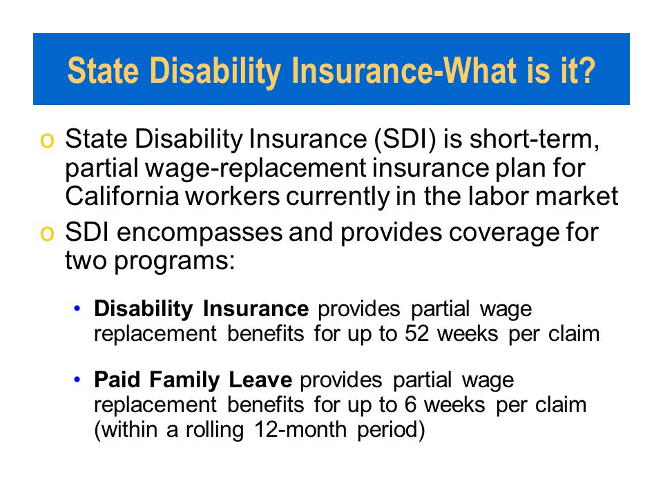State Disability Insurance-What is it