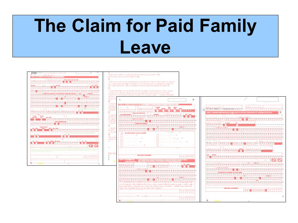 The Claim for Paid Family Leave