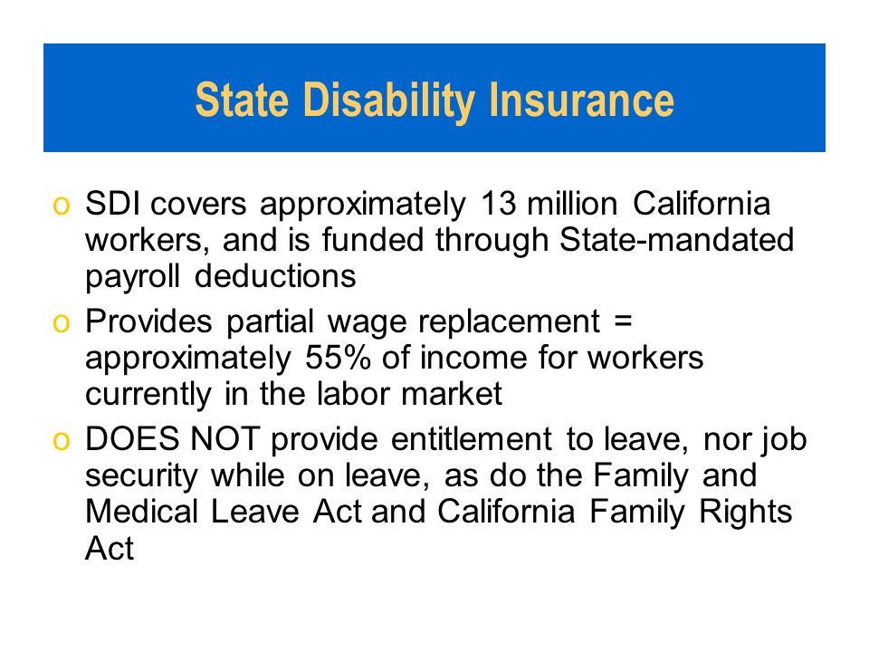 California State Disability Insurance for Health Care Providers ...