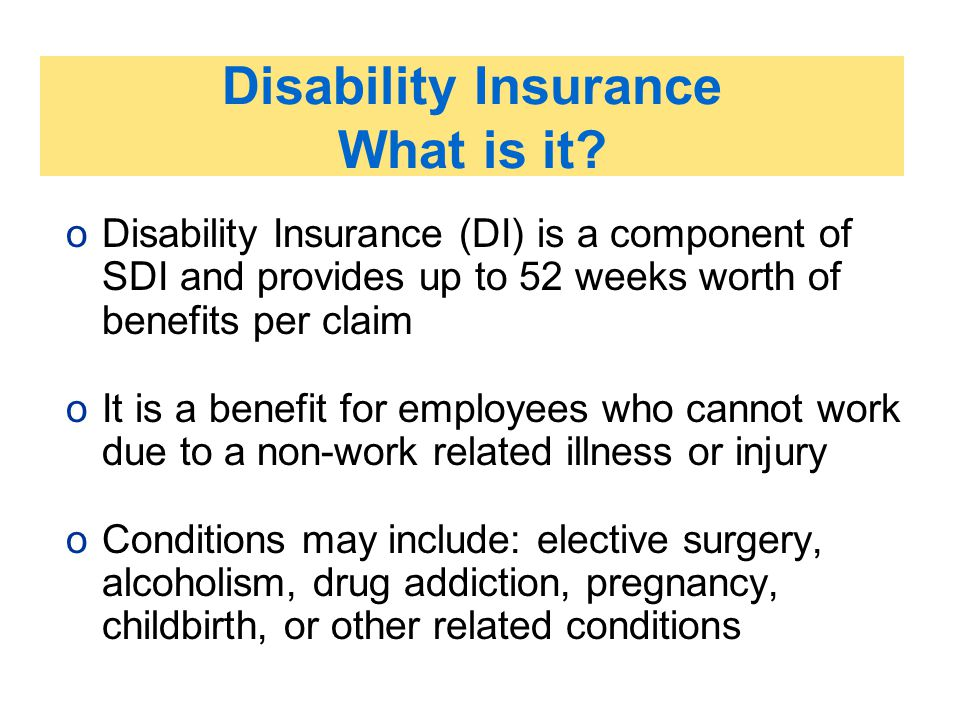 Disability Insurance What is it
