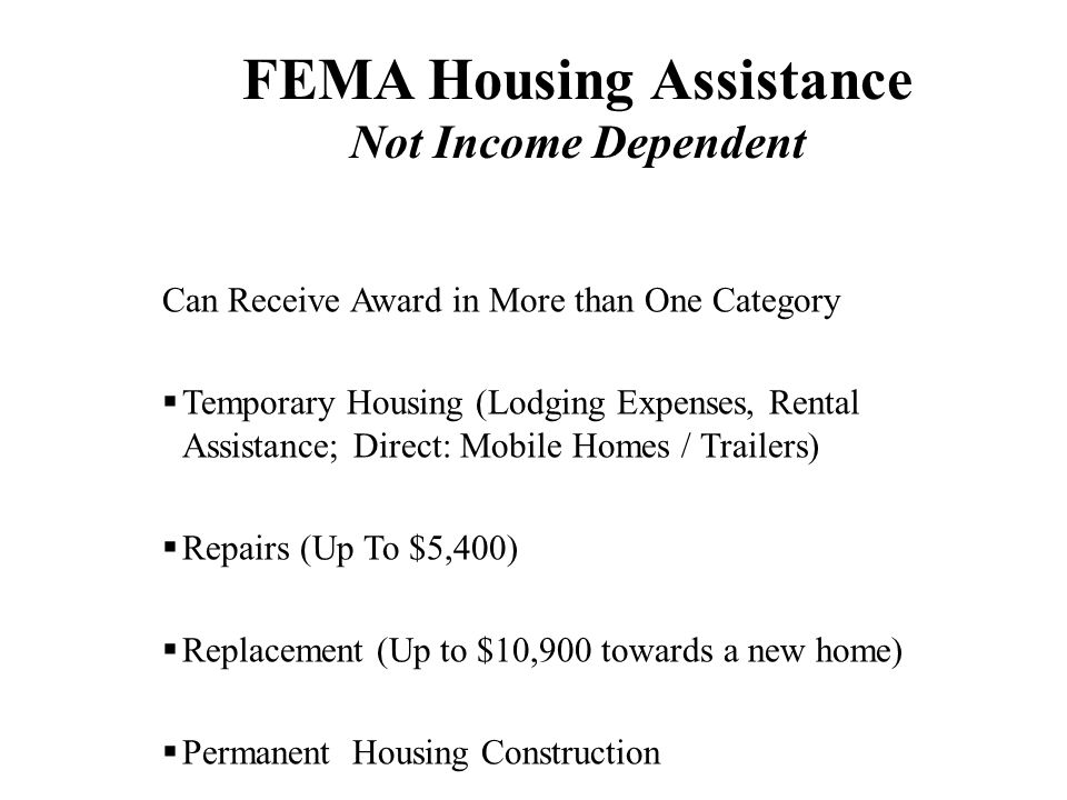 FEMA Housing Assistance