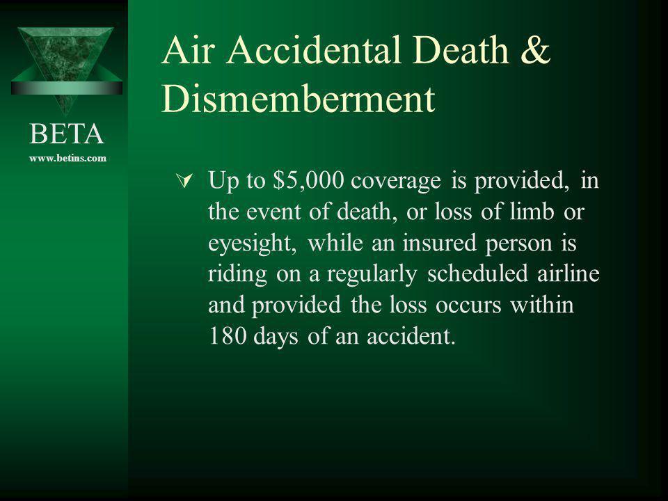 Air Accidental Death & Dismemberment
