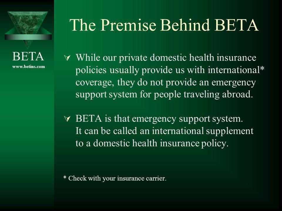 The Premise Behind BETA