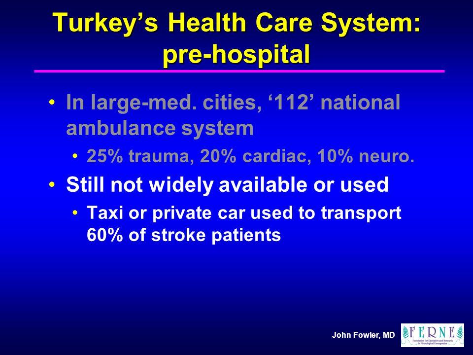 Turkey's Health Care System: pre-hospital