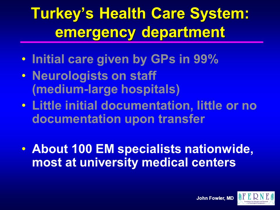 Turkey's Health Care System: emergency department