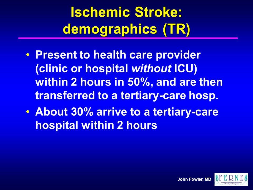 Ischemic Stroke: demographics (TR)