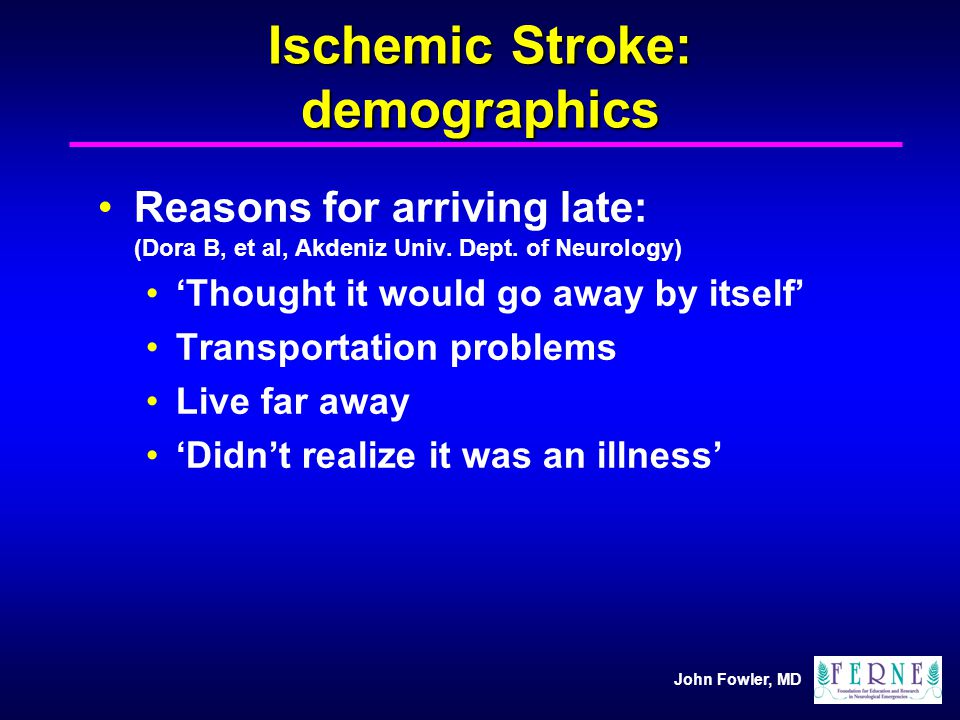 Ischemic Stroke: demographics