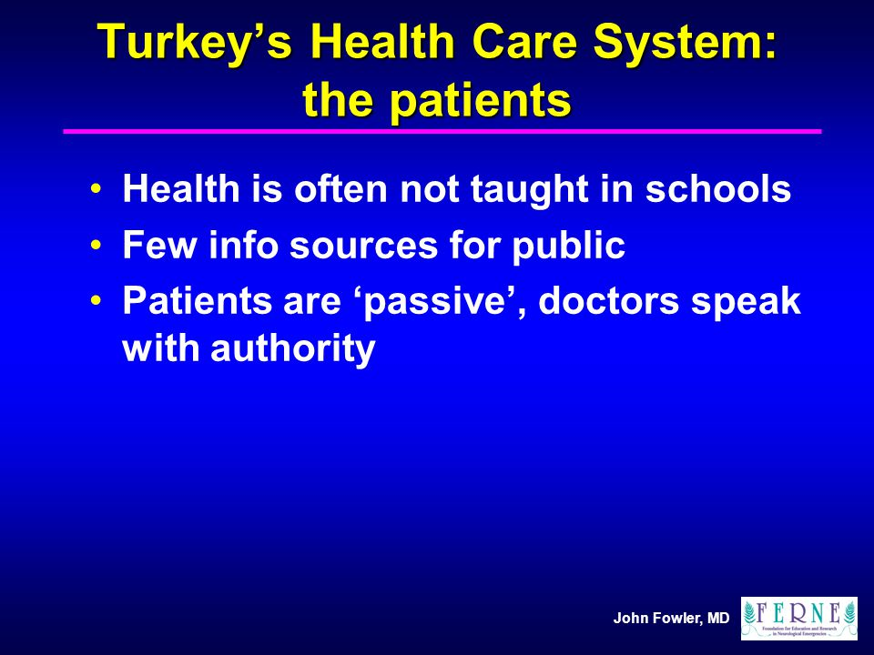 Turkey's Health Care System: the patients