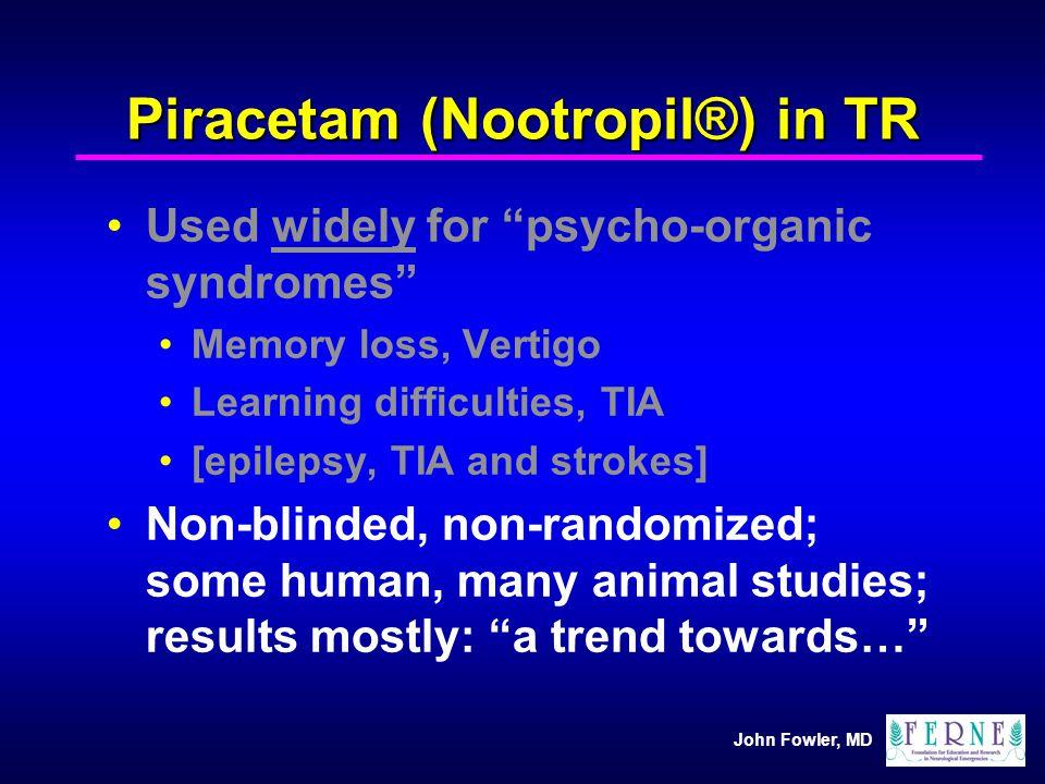 Piracetam (Nootropil®) in TR