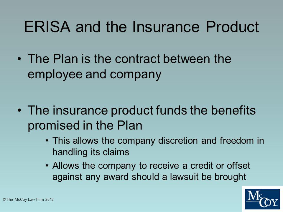ERISA and the Insurance Product