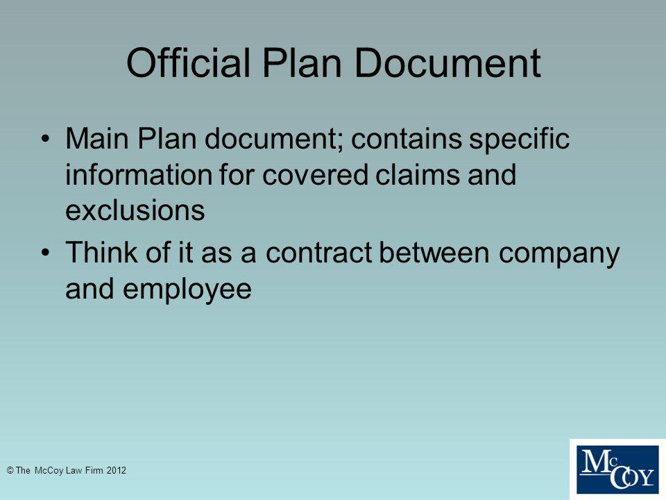 Official Plan Document