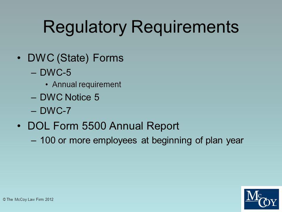 Regulatory Requirements