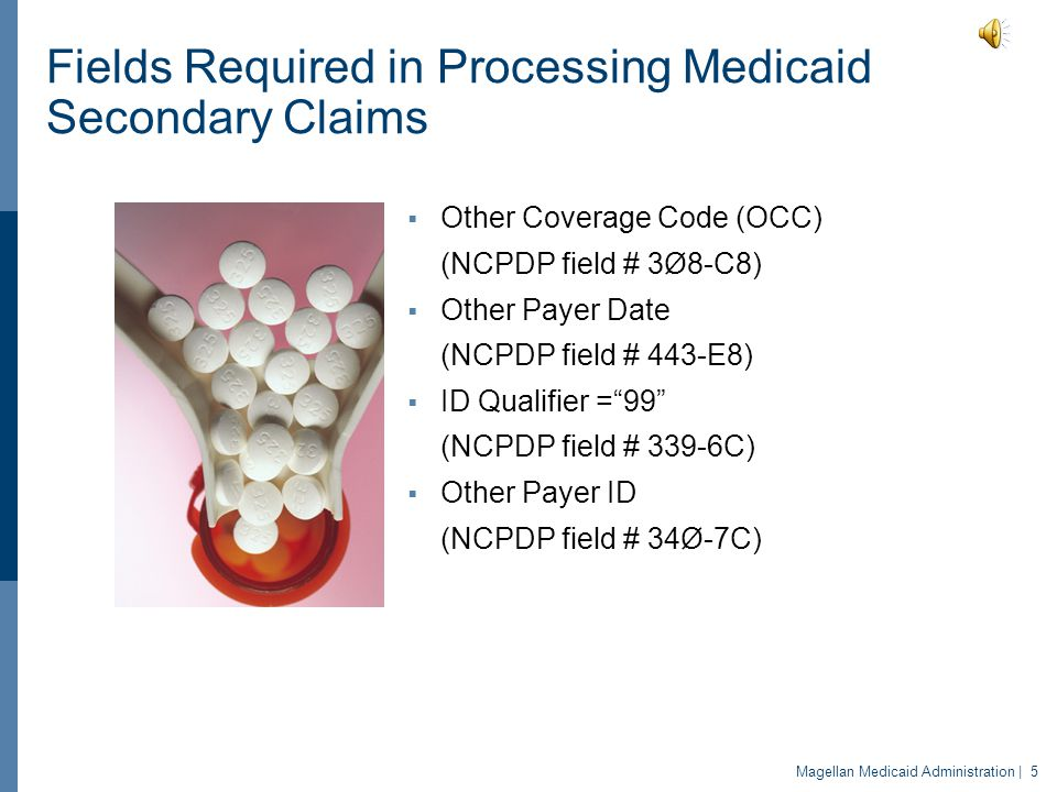 Fields Required in Processing Medicaid Secondary Claims