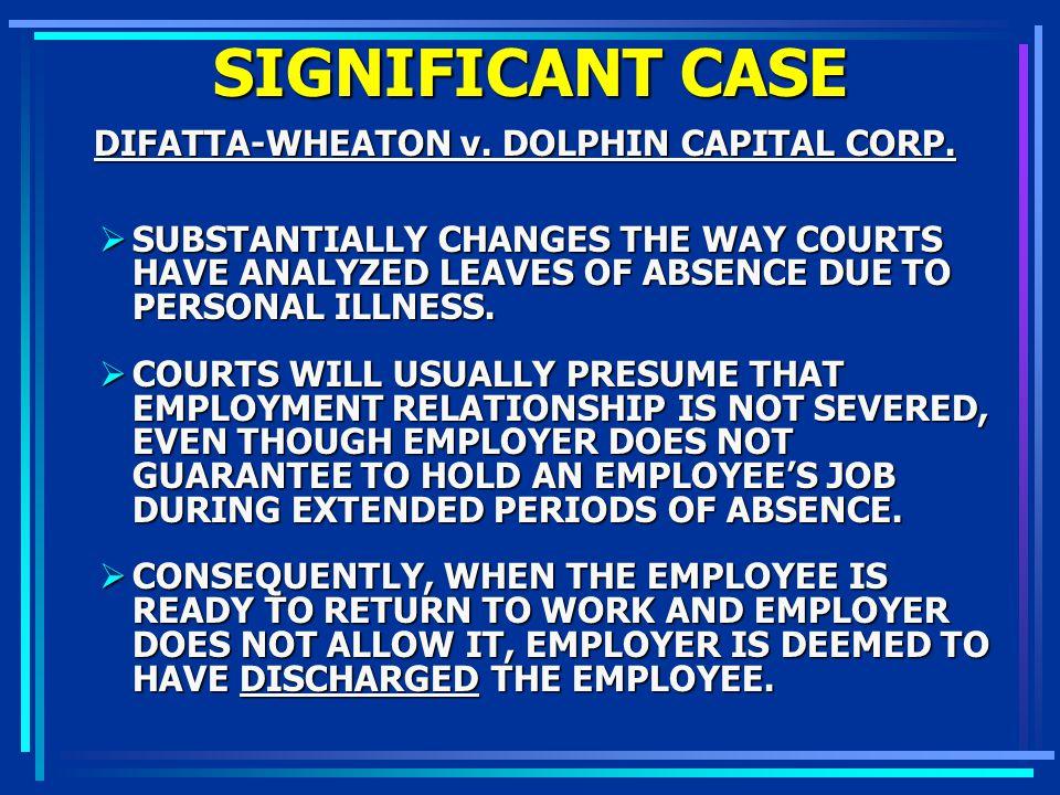 DIFATTA-WHEATON v. DOLPHIN CAPITAL CORP.
