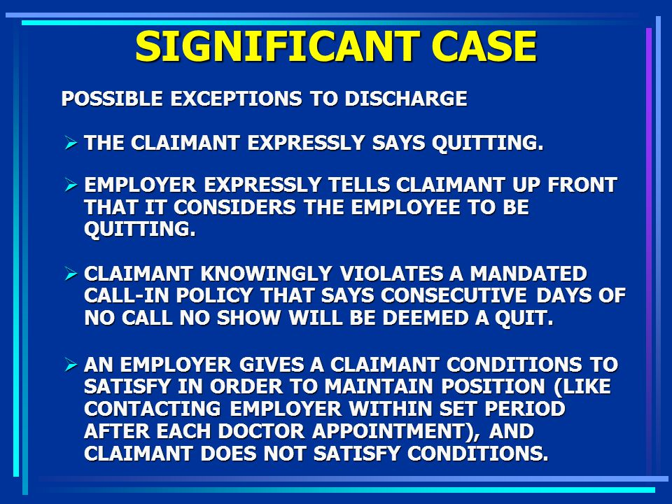 SIGNIFICANT CASE POSSIBLE EXCEPTIONS TO DISCHARGE