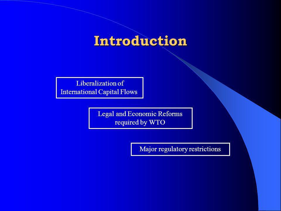 Introduction Liberalization of International Capital Flows