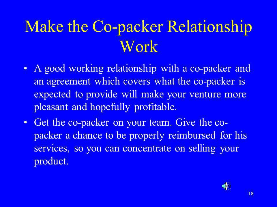 Make the Co-packer Relationship Work