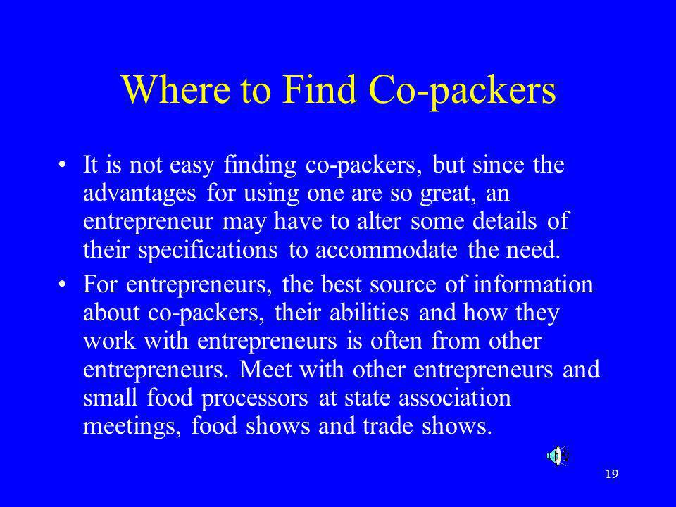 Where to Find Co-packers