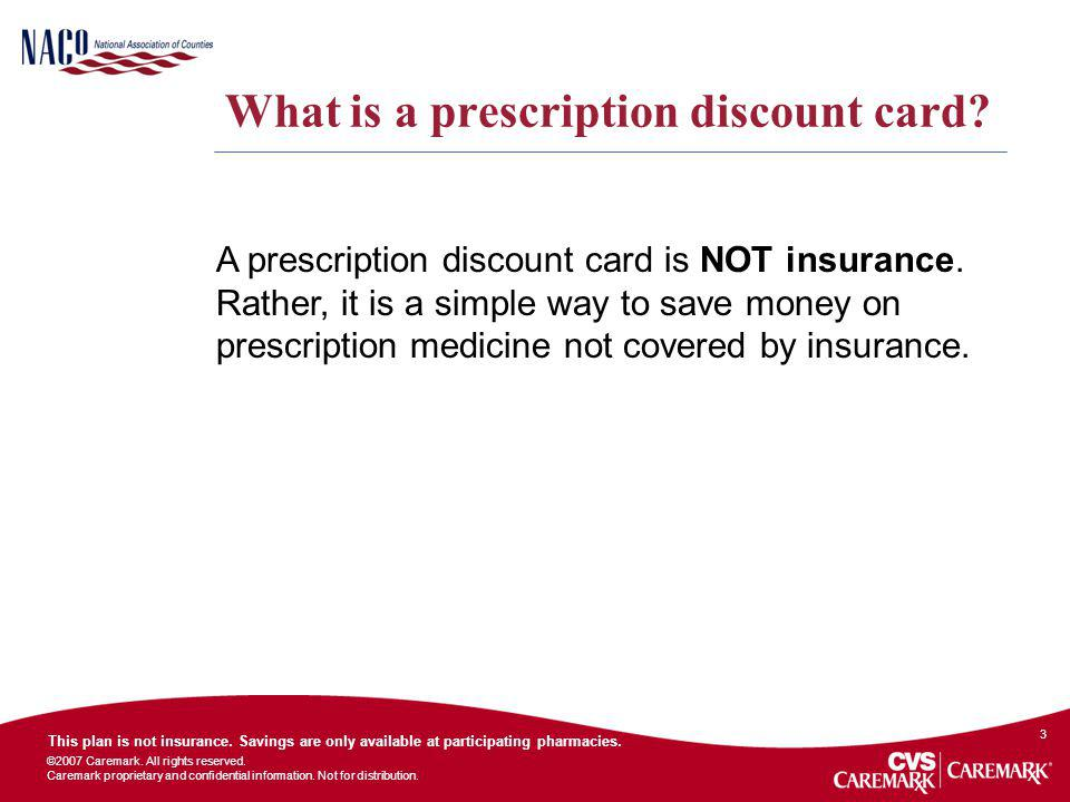 What is a prescription discount card