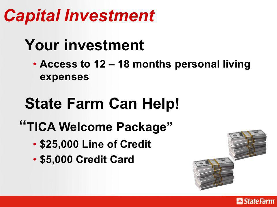 Your investment State Farm Can Help! Capital Investment