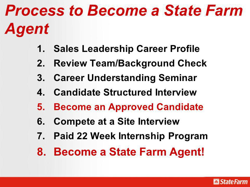 Process to Become a State Farm Agent