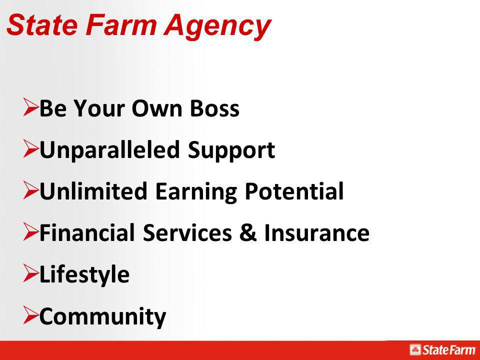 State Farm Agency Be Your Own Boss Unparalleled Support
