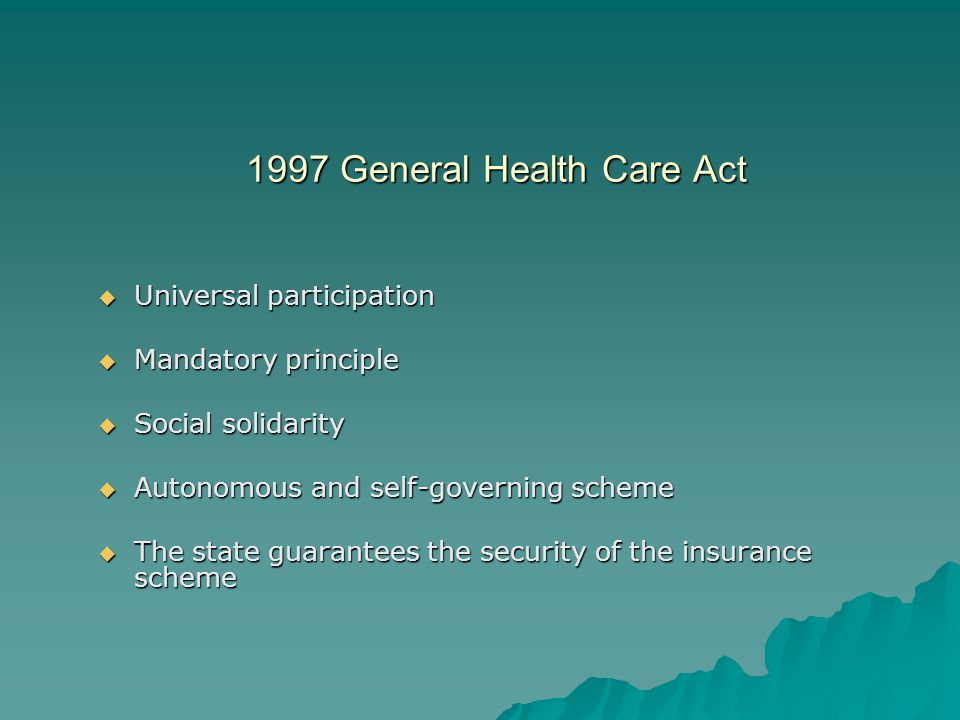 1997 General Health Care Act