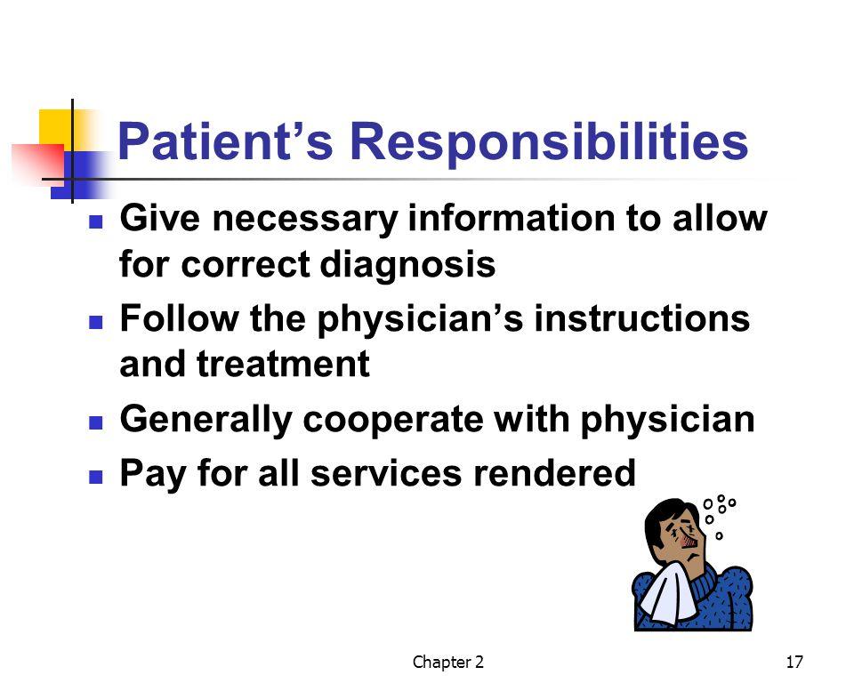 Patient's Responsibilities