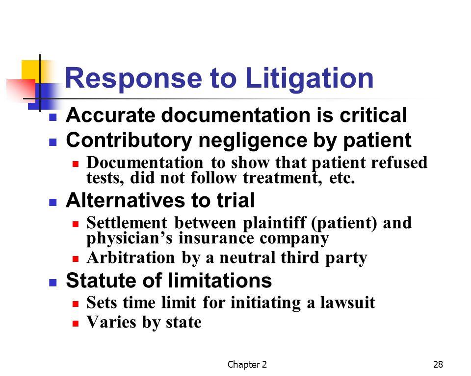 Response to Litigation