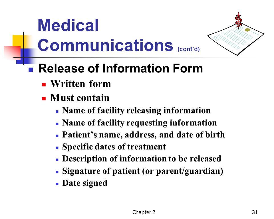 Medical Communications (cont'd)