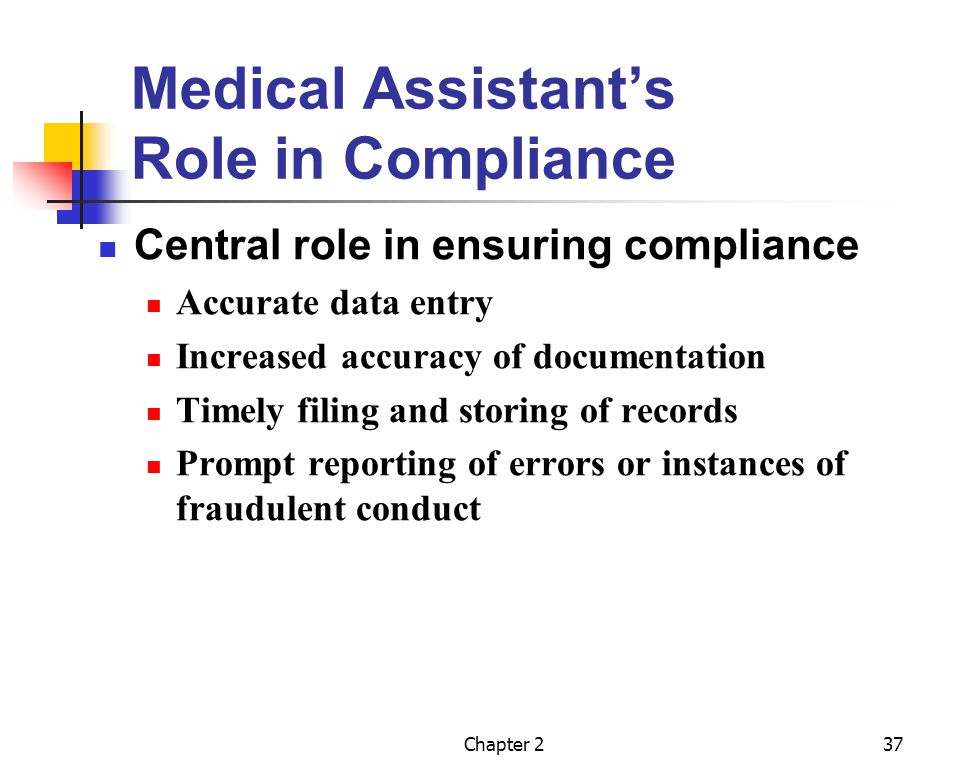 Medical Assistant's Role in Compliance