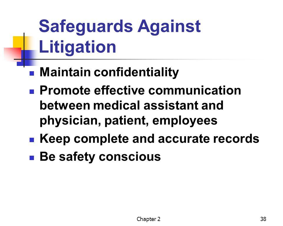 Safeguards Against Litigation