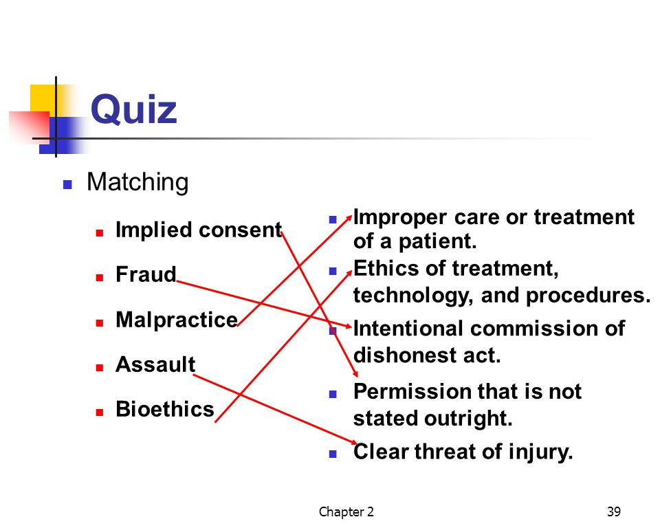 Quiz Matching Implied consent Fraud