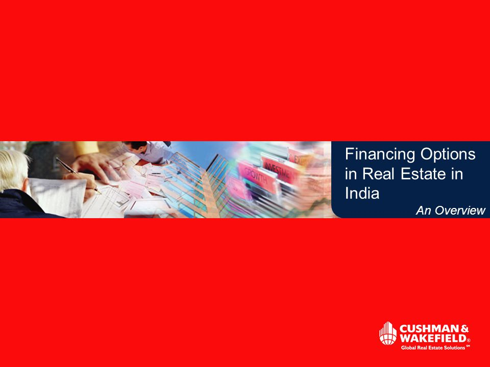 Financing Options in Real Estate in India