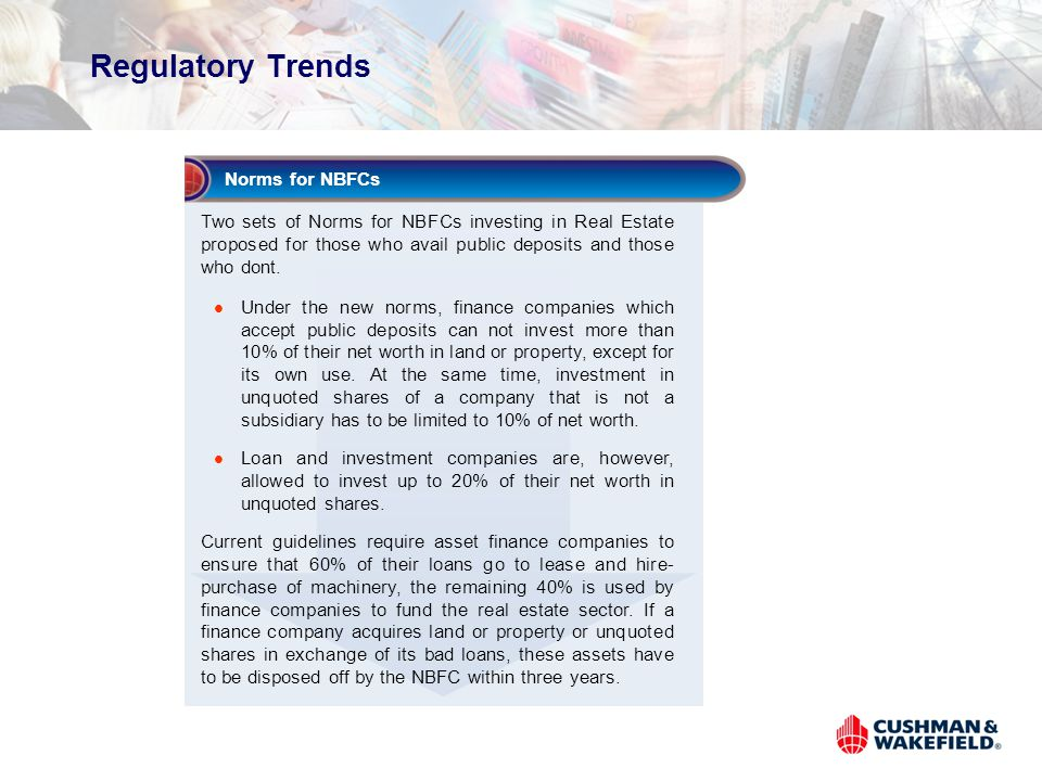Regulatory Trends Norms for NBFCs