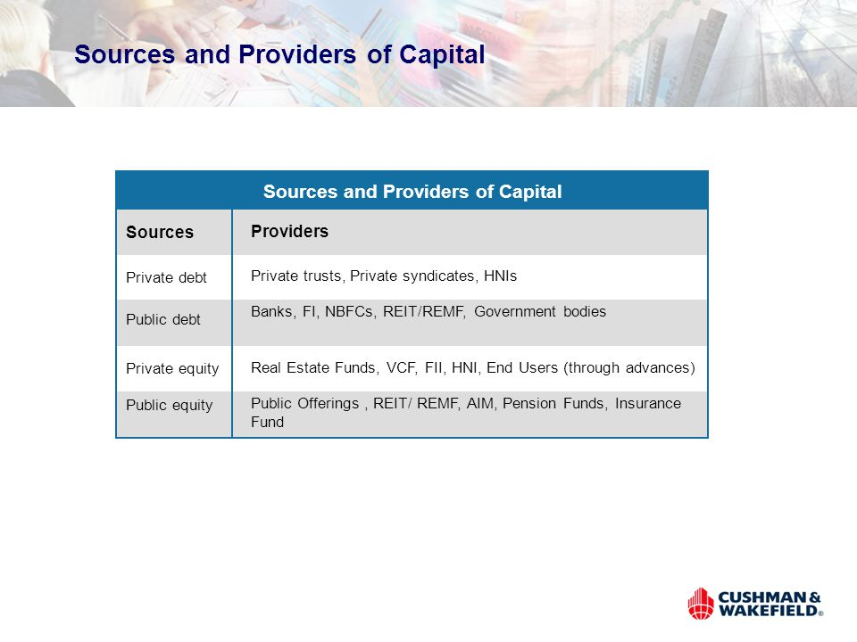 Sources and Providers of Capital