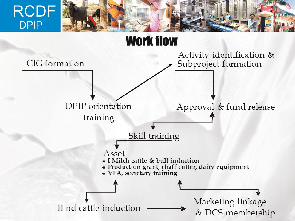 RCDF Work flow DPIP • • • Activity identification & CIG formation