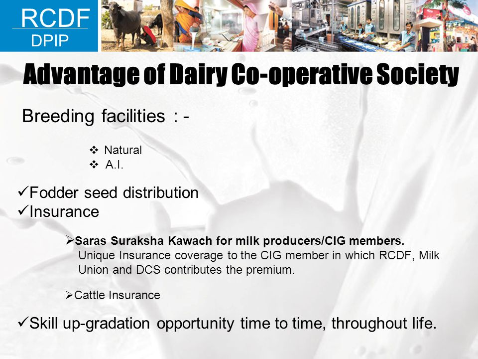 Advantage of Dairy Co-operative Society